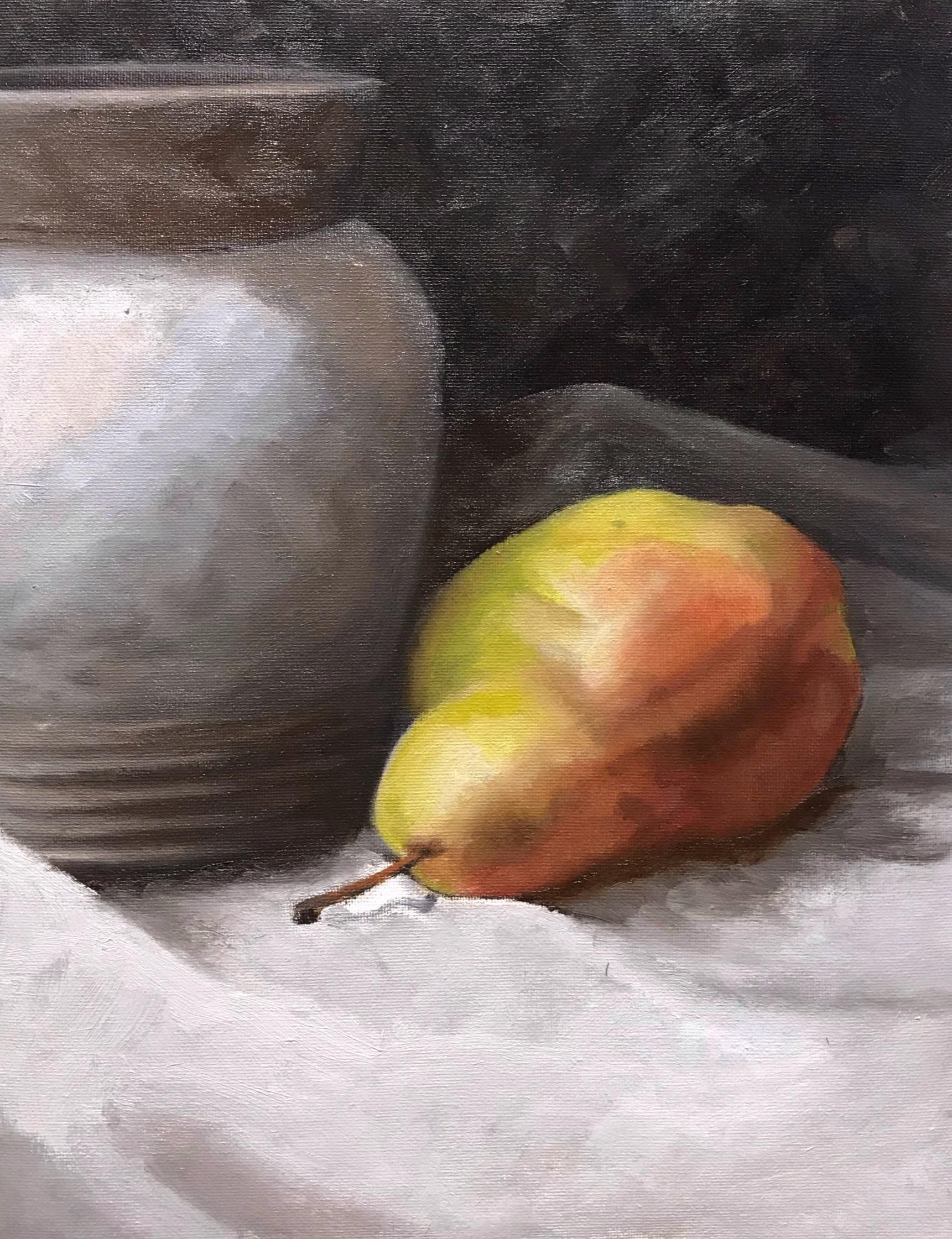 Final Pear and Jug painting