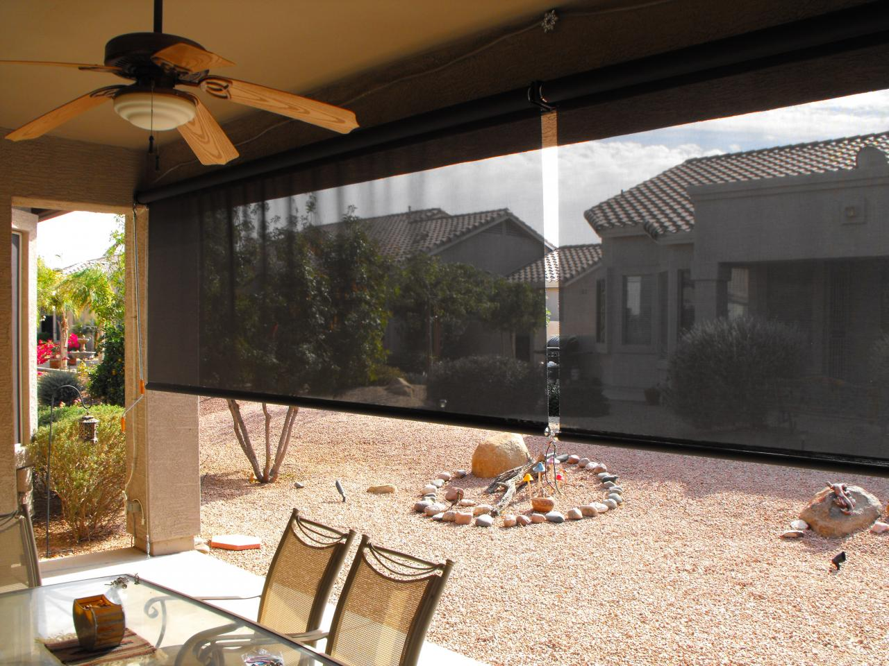 Sline Awning Patio Inc Drop Shades