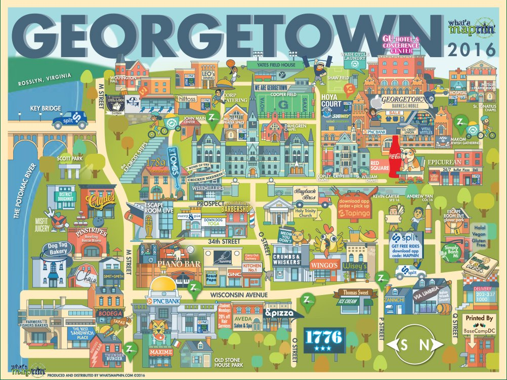 Georgetown Map | Photo Courtesy of What's Mapnin'