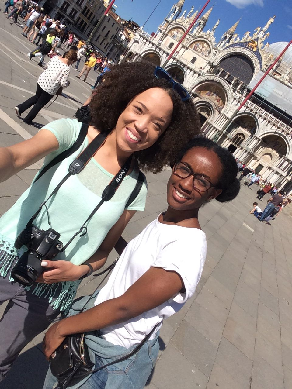 With my fellow Bison in San Marco Square