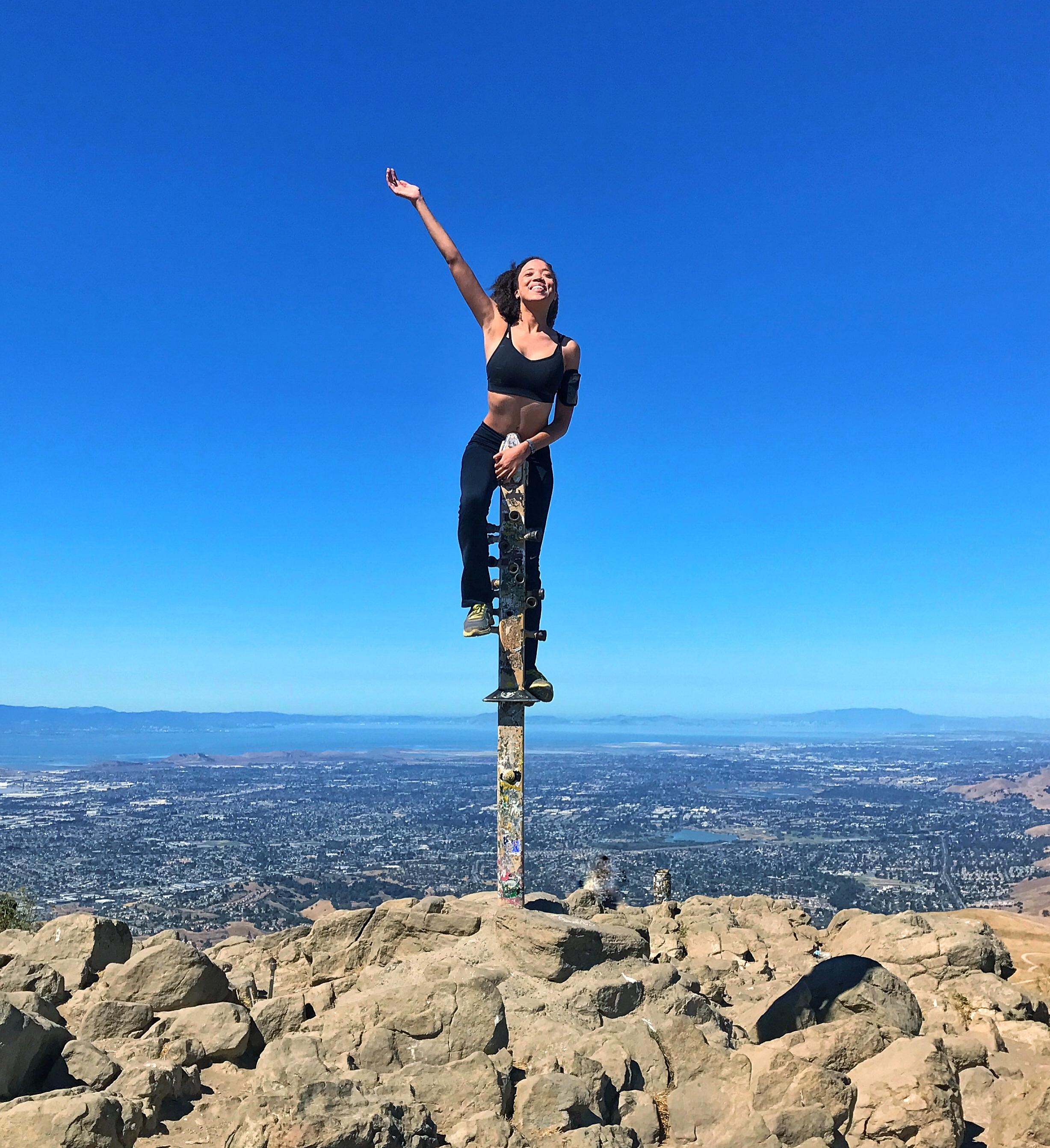 Reaching the Mission Peak Summit
