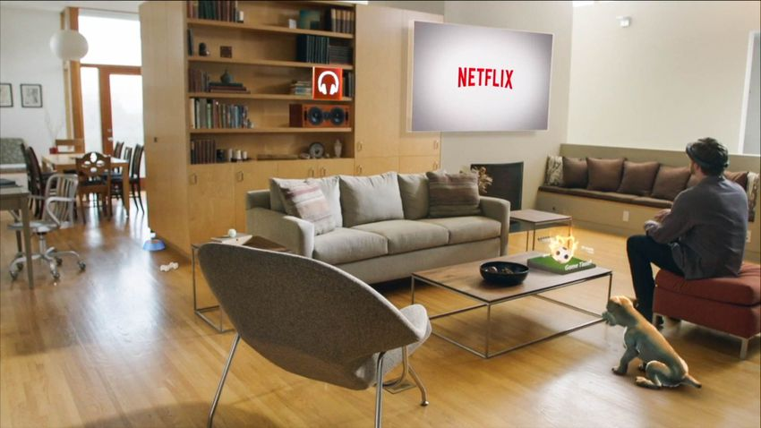 Microsoft HoloLens shown Netflix in its demo