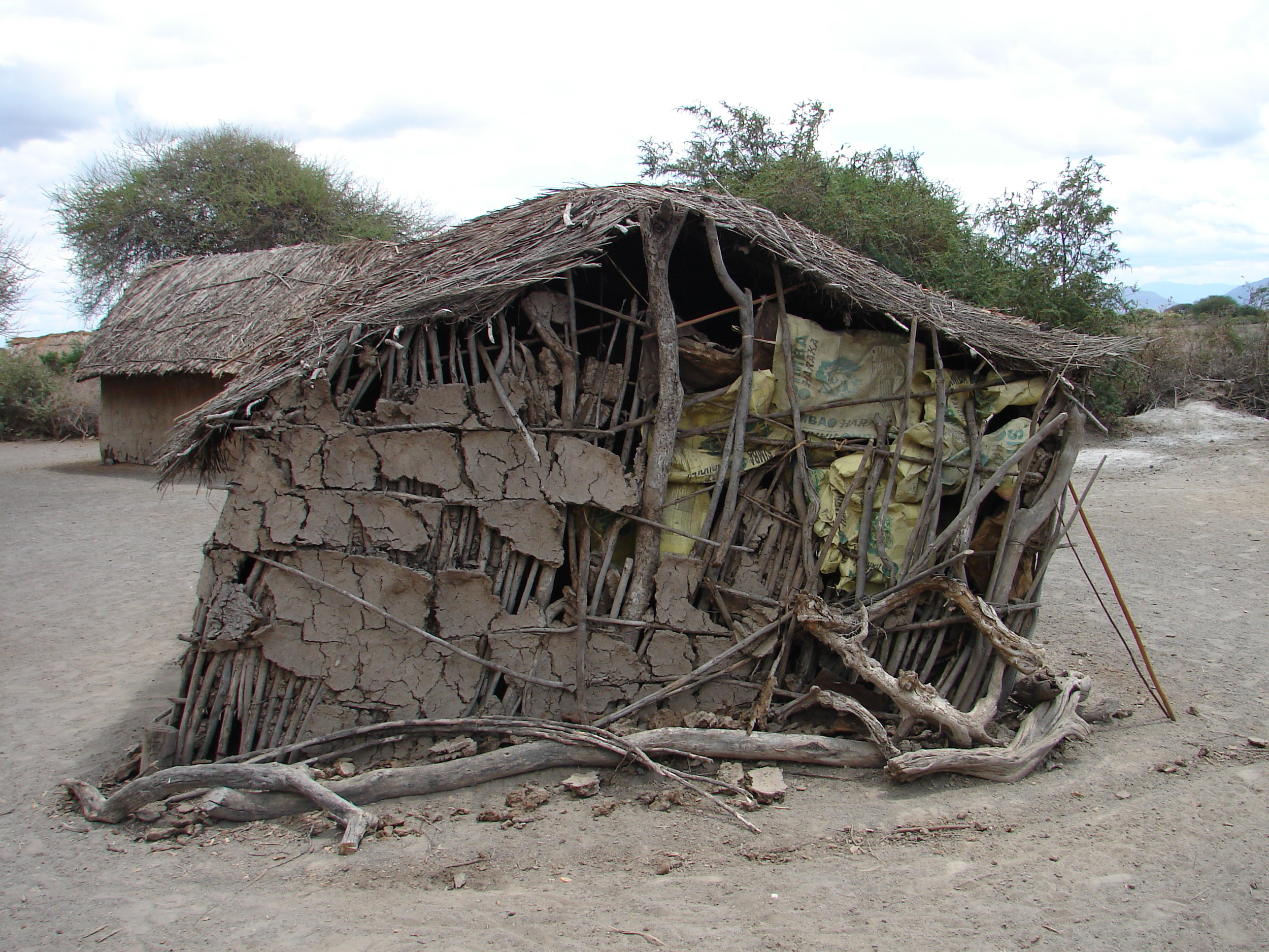 A typical rural household begins to collapse - Tanzania