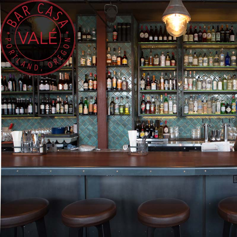 Bar Cas Vale - Bar Casa Vale is a cozy, wood-fired, Spanish inspired bar and restaurant. We celebrate the bounty of the Pacific Northwest through the lens of Tapas bars in Barcelona, Sherry bodegas in Jerez, and Pintxo crawls through San Sebastian.We love to pour gin tonics the true Spanish way, and Jamon Iberico de Bellota slicing as it should be! You will find only the freshest seafood from the Pacific Ocean, meats from the pasture lands surrounding Portland, and vegetables grown on the farms located just down the street. Our motto is simple: Cooking the perfect ingredient over hard wood creates the best tasting food. Join us seven nights a week at our bar, dining room, or beautiful outdoor courtyard.