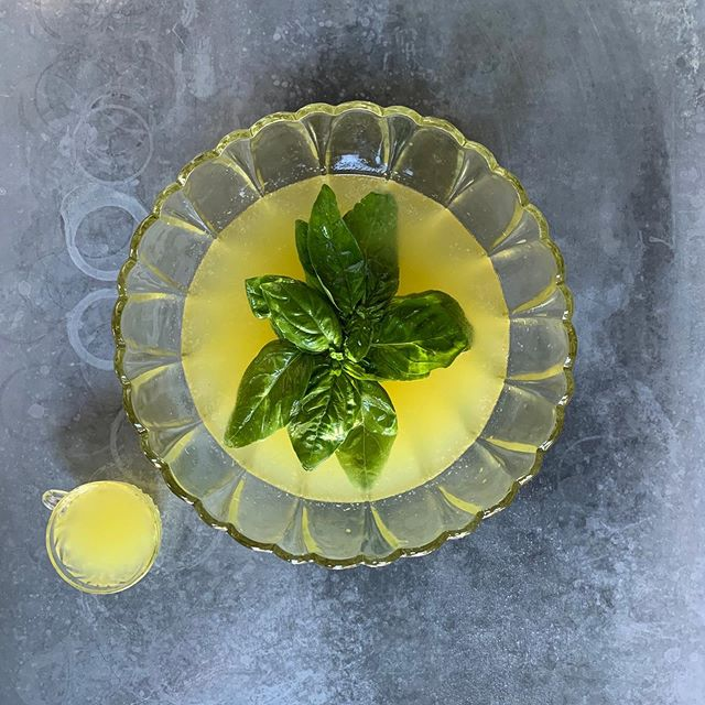 Tonight's punch features some of the most aromatic basil from @vibrantvalleyfarm it has Rum, lime, pineapple, and cava. Come in and get it before it's gone!