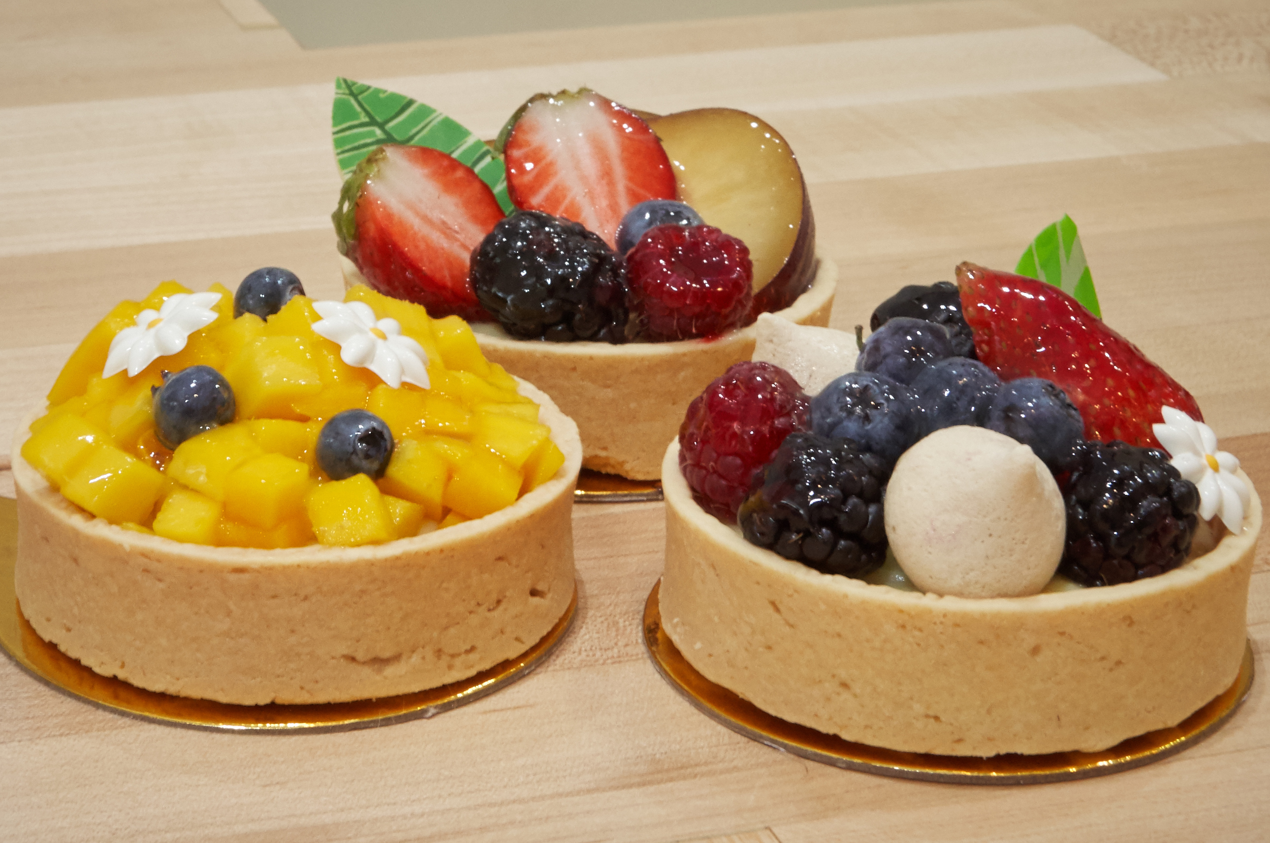 Trio of Fruit Tarts