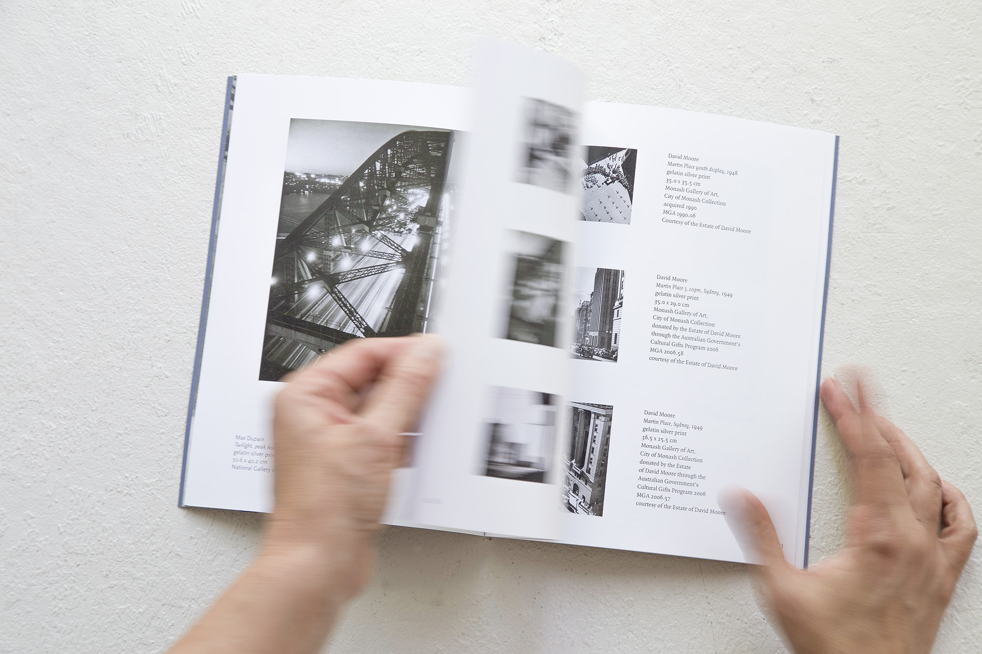 PUBLICATION /  Dreams and Imagination: Light in the Modern City, 2014 Monash Gallery of Art, 68 pp catalogue  Design and print management. Read about the design process here .