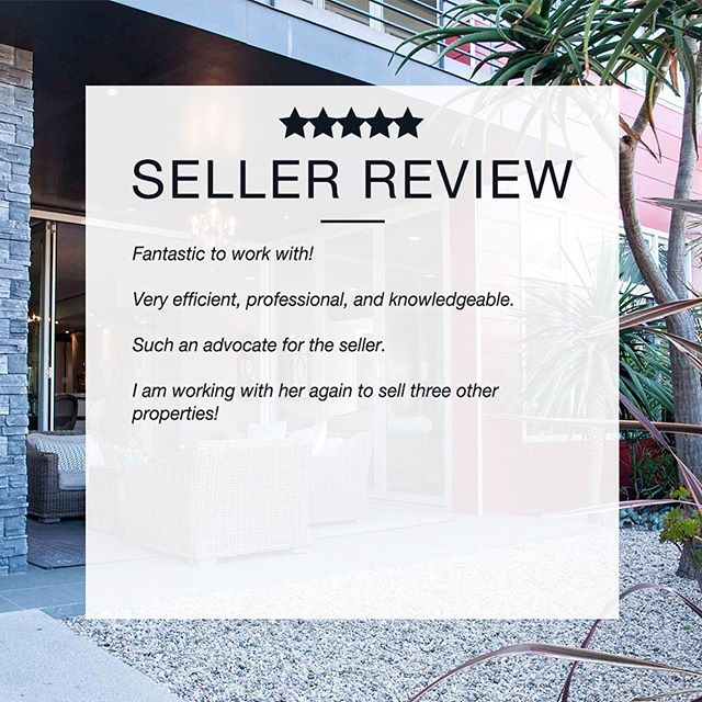 """🌸✨ S E L L E R  R E V I E W ✨🌸 • """"Fantastic to work with! Very efficient, professional, and knowledgeable. Such an advocate for the seller. I am working with her again to sell three other properties!"""" 🙌🥰🙌 View more compliments —  www.jackietheis.com/testimonials (link in bio)  #happyclient #compliment #testimonial #thankyou #TYVM #realestatetestimonials #listingagent #soldrealestate #realtorsofinstagram #losangelesrealestate #milliondollarlisting #bosshomes #homegoals"""