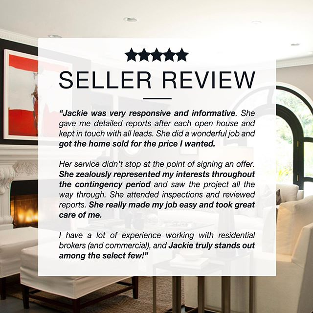 . R E S P O N S I V E A N D I N F O R M A T I V E  Consistently representing my clients best interests scores beautifully heartfelt reviews such as this! 🤩  View more compliments —  www.jackietheis.com/testimonials (link in bio)  #happyclient #compliment #testimonial #thankyou #TYVM #realestatetestimonials #listingagent #soldrealestate #realtorsofinstagram #losangelesrealestate #milliondollarlisting #bosshomes #homegoals