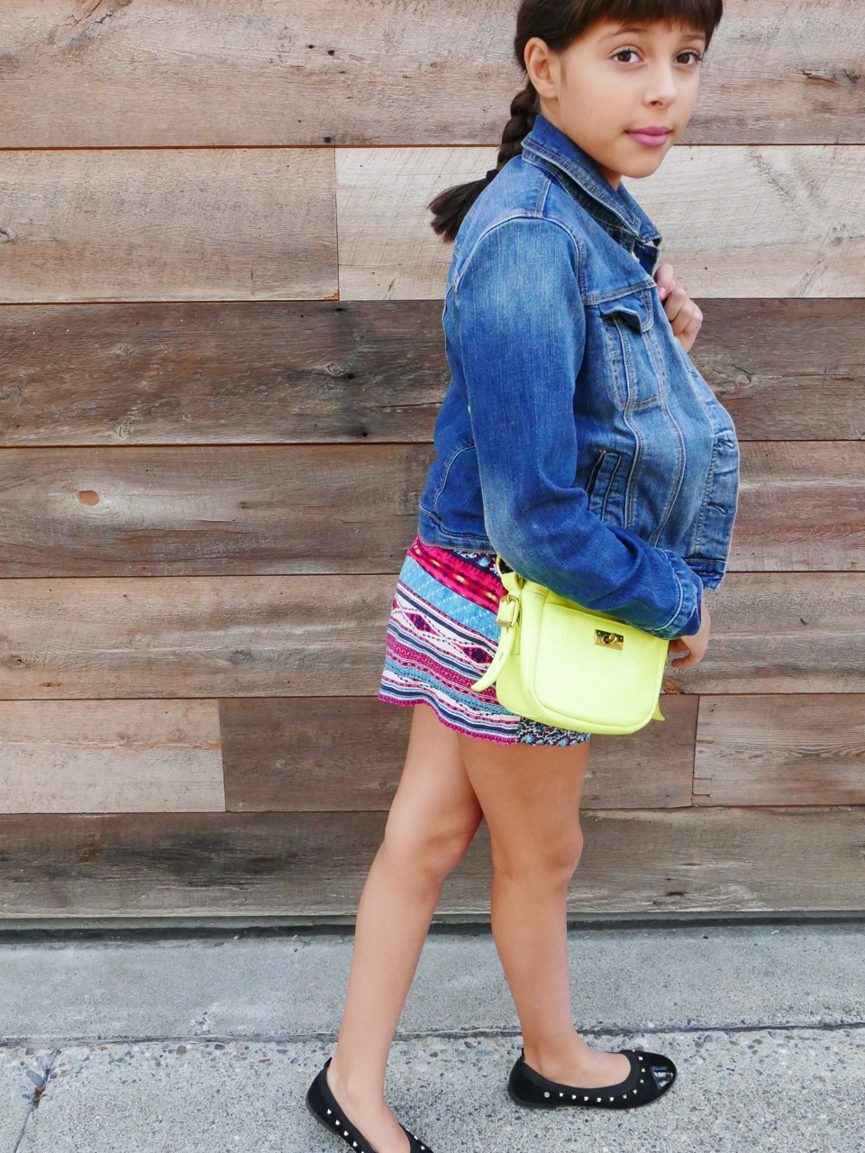 neon yellow purse