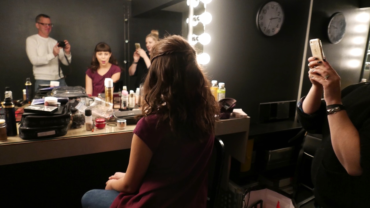 All finished in the makeup chair