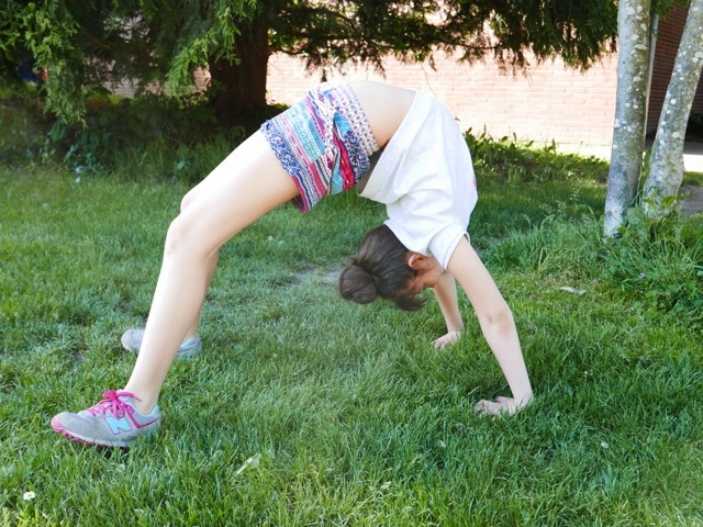 getting my back bend on!