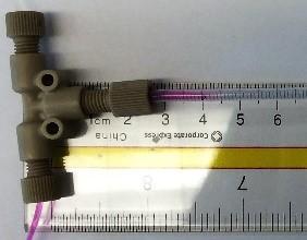 Figure        SEQ Figure \* ARABIC      2         Top view observing mixing distance 40 μL/min
