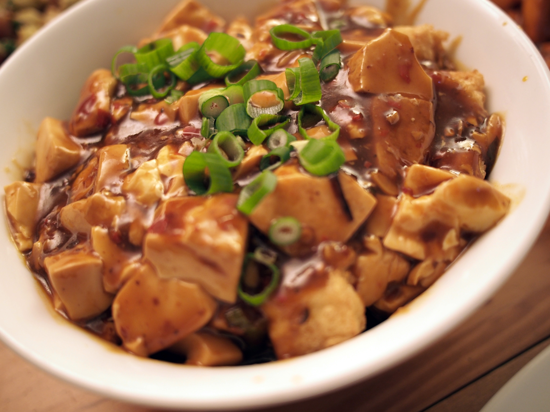 Mabo Double Doufu (Mabo Doufu over crispy fried tofu)