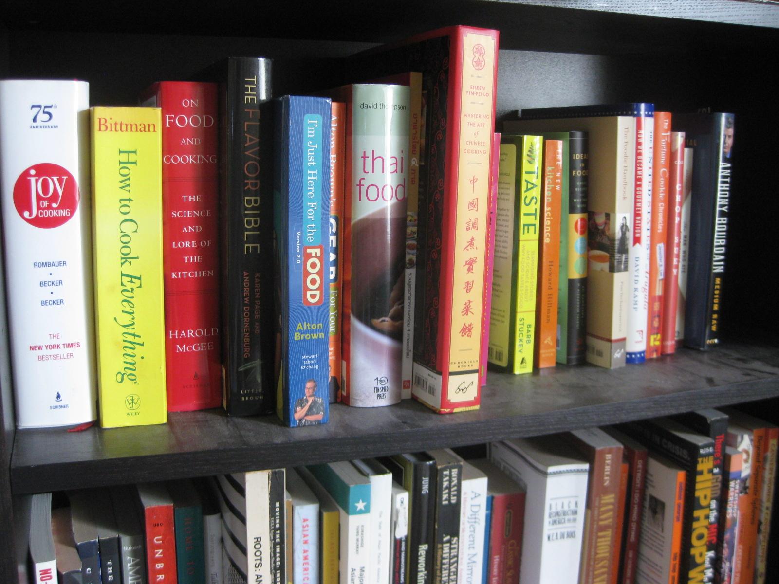 Food bookshelf