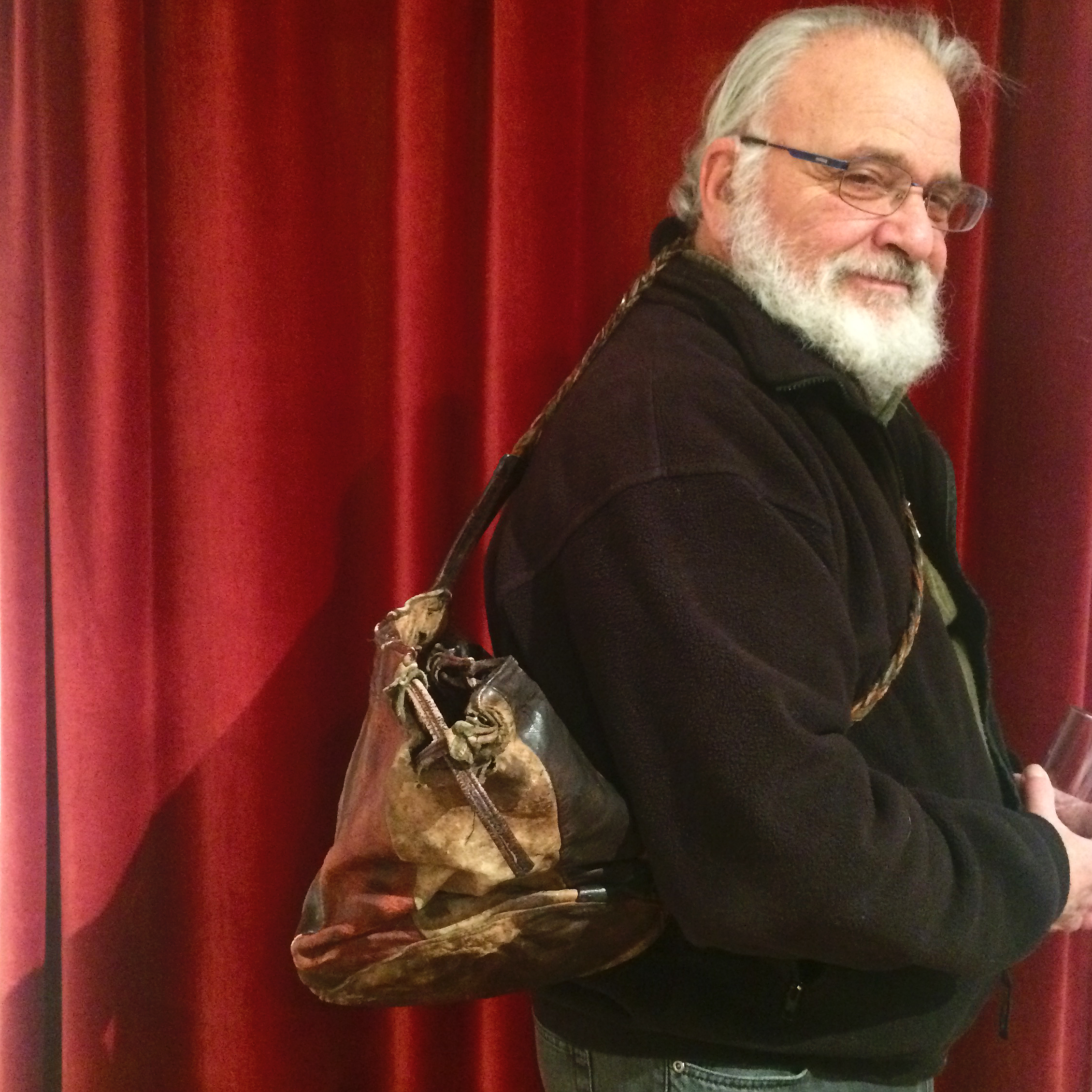 Al Wunder  Object: leather bag  Story: In 1971 I moved to San Francisco from New York. I started teaching dance solo for the first time. The bag was a payment for my classes, and I used it to carry my dance gear.