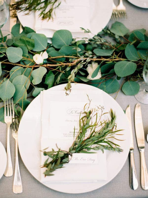 Herb and Greenery Table Decor
