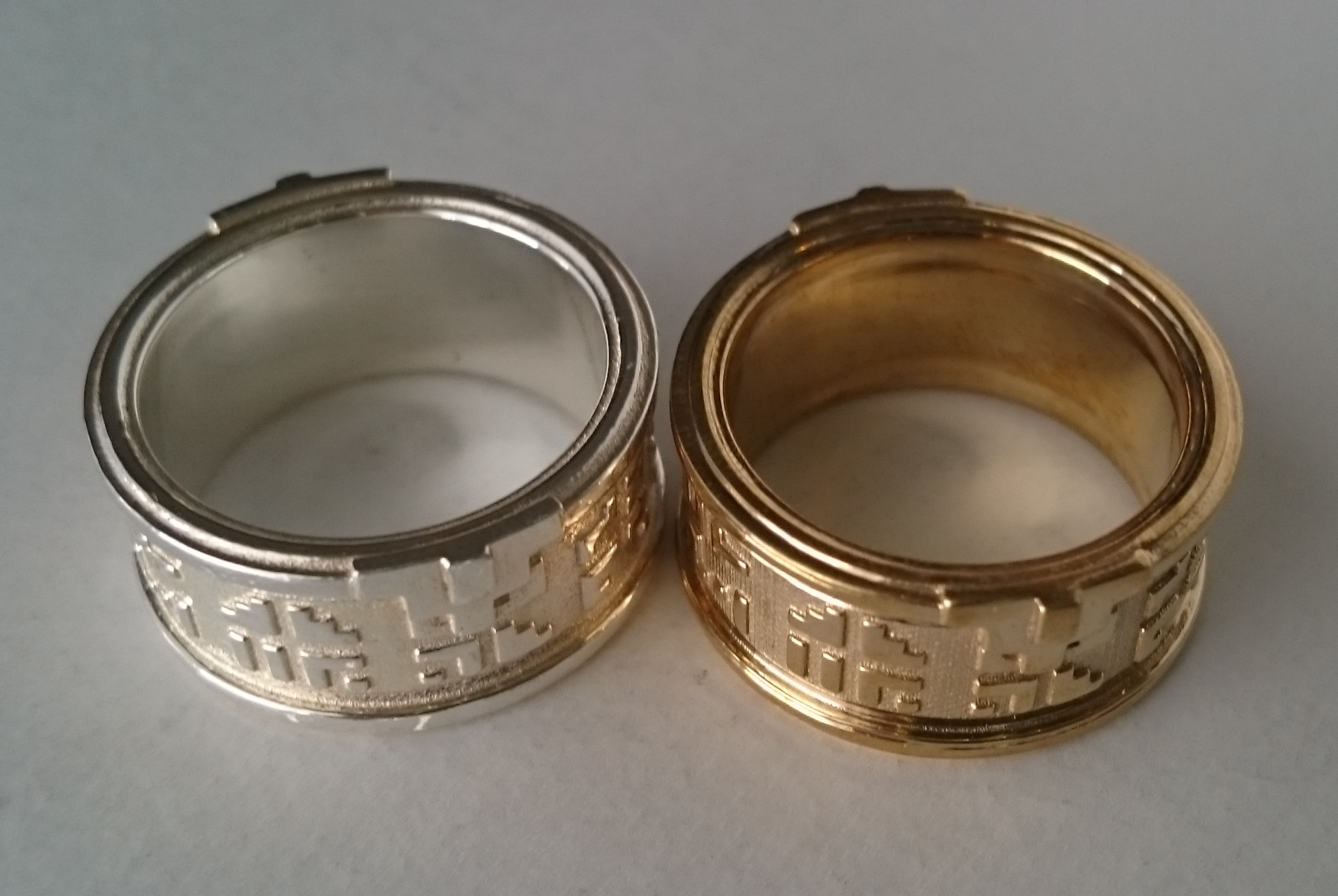 Silver and Bronze ring prints