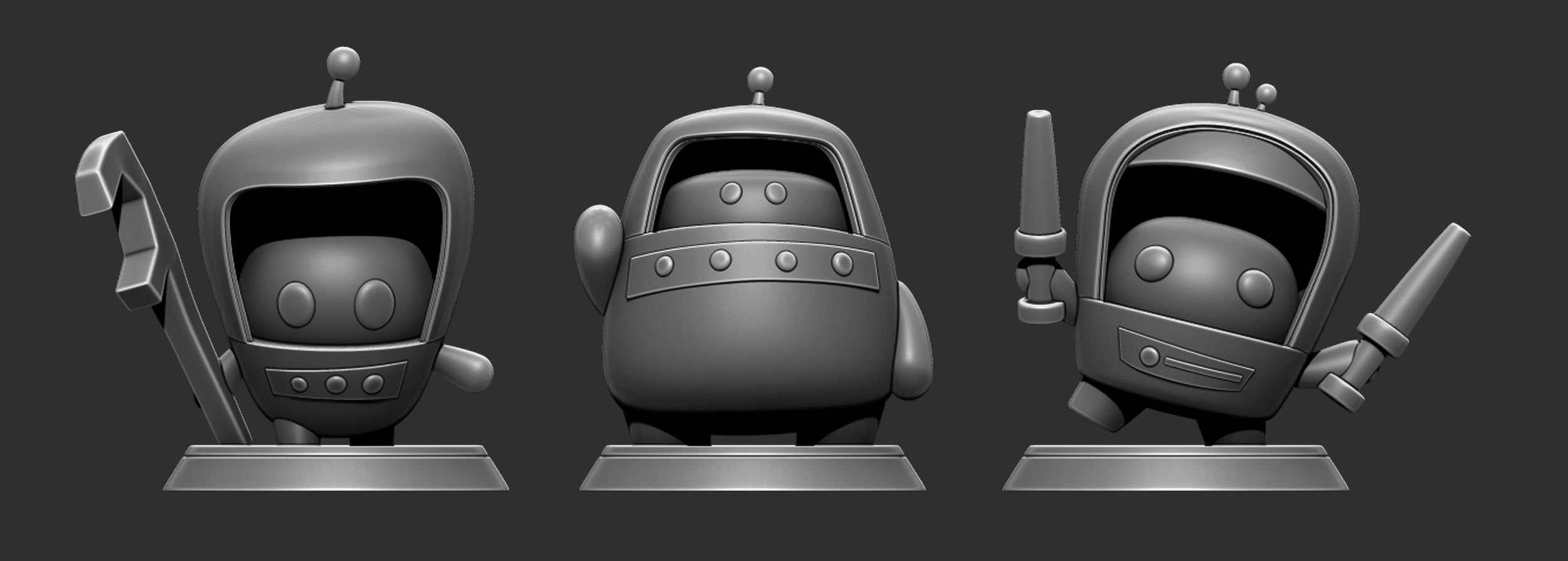 Final Models made in Maya and Zbrush