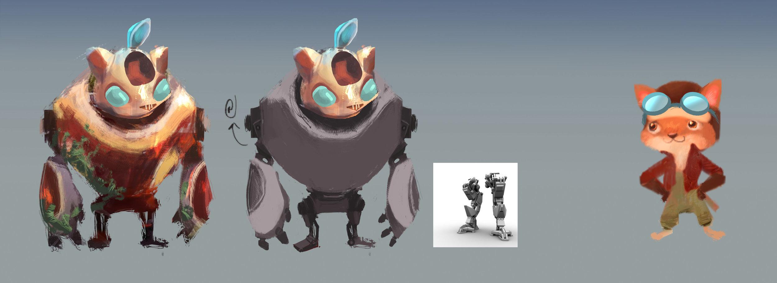 Final concept design of Mech Pets
