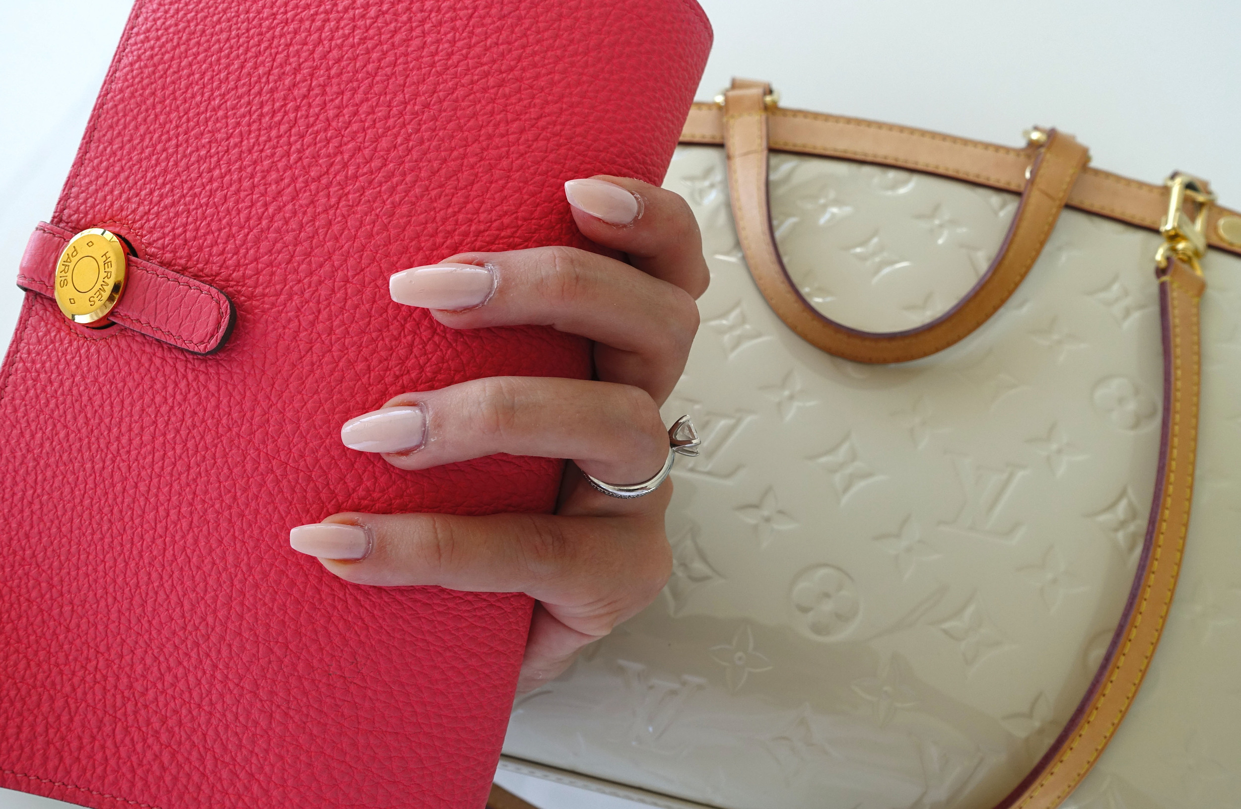 pink dogon hermes coffin nails louis vuitton bag