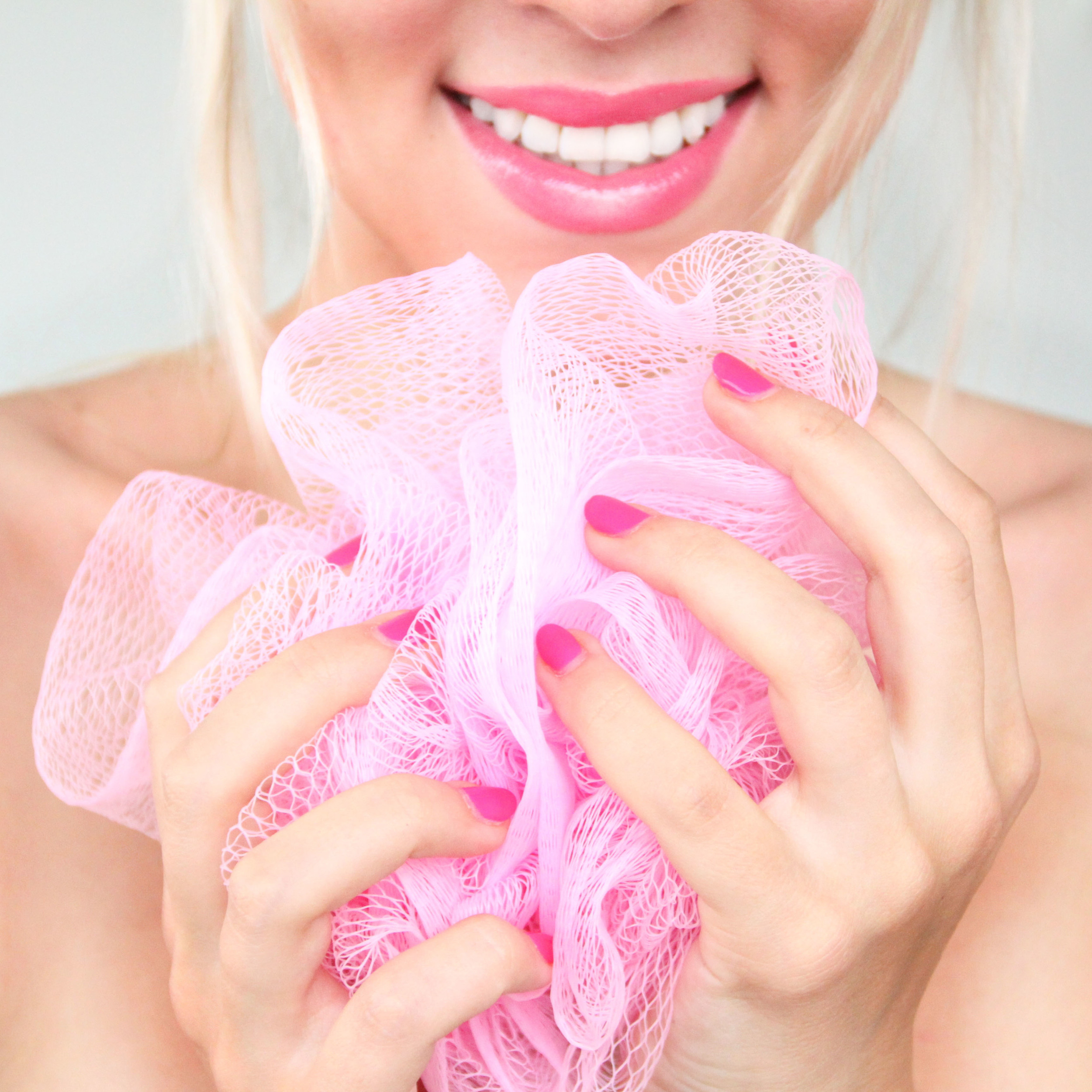 pink nails pink looter pink lips exfoliate skin smooth