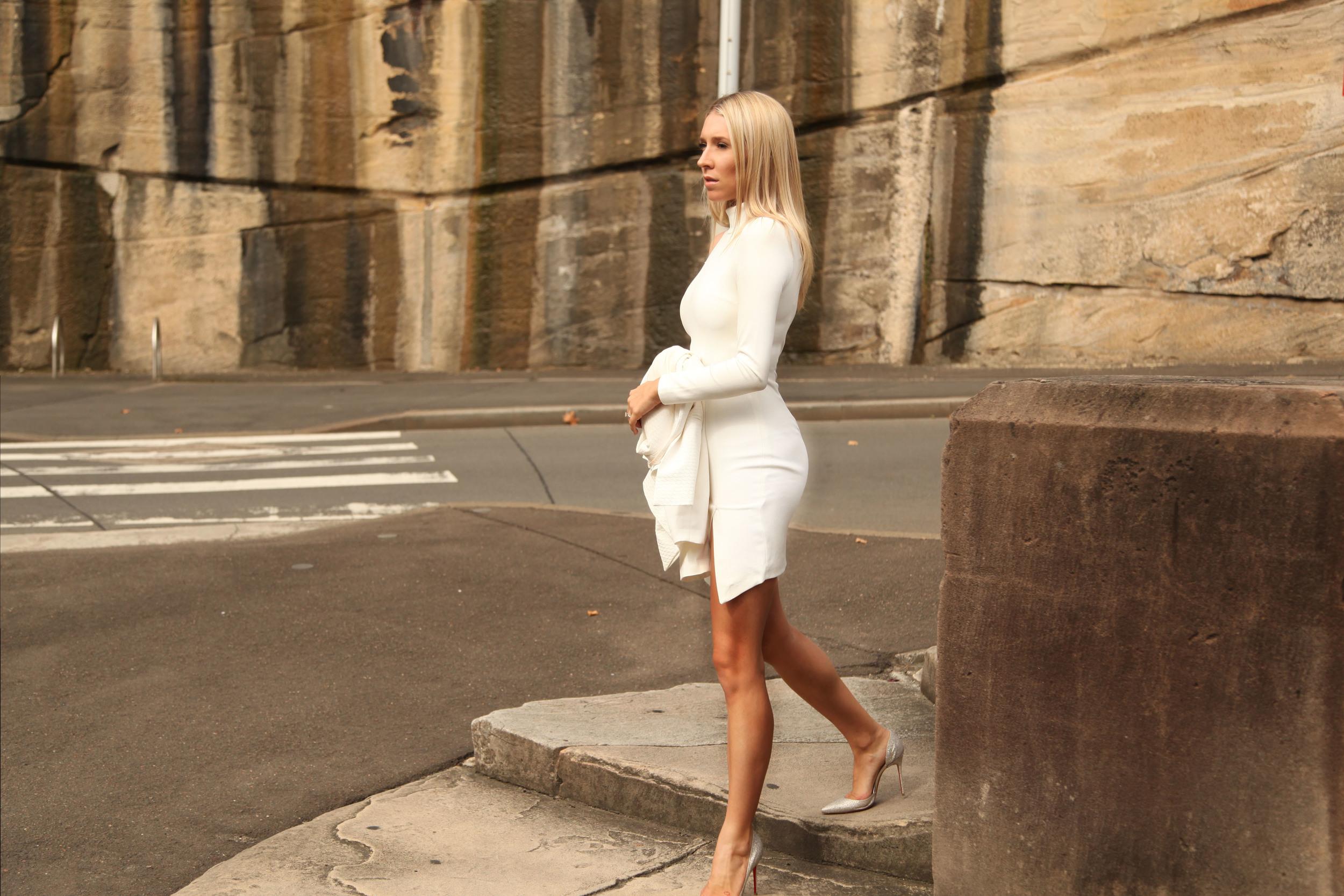 misha collection dress white sydney