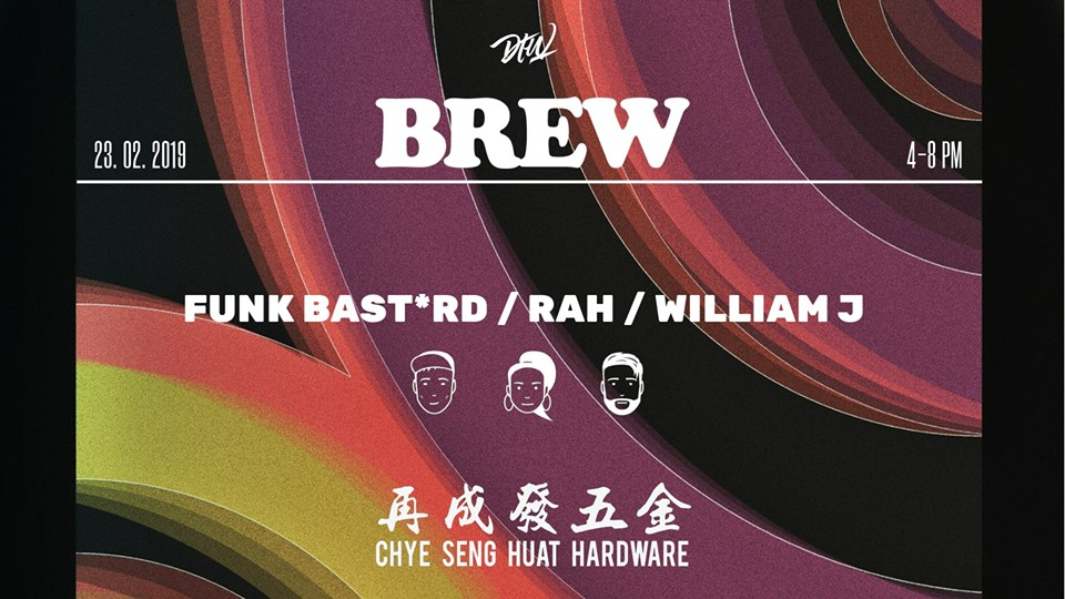"""So Yes, We are back with the BREWWWWW. After a year-long hiatus, we are excited to return to our favourite neighbourhood Jalan Besar with one of the liveliest DTW parties to date. Peeps have been asking repeatedly about this, and we can't wait to kick it off once again come Feb 23rd. Spread the word folks. Do take note tho - we have a revised timing for this, so rock up early! X  SELECTORS : FUNK BSTRD RAH William J  TIME: 4 - 8 pm LOCATION: 150 Tyrwhitt Rd, Singapore 207563 FREE ENTRY ALL NIGHT!  Apart from music, caffeine is a mutually preferred stimulant within the camp at Darker Than Wax. We take both our brew and beats seriously, and we predict for this fledgling alliance with Papa Palheta, held against the urban backdrop of Jalan Besar, to be a burgeoning one.  We will be kicking off the first BREW at the industrial-chic compound of Chye Seng Huat, join us for a balmy pre-game session for some brew, beats and beers.  """"Darker Than Wax are an electronic music label from Singapore. With a global reach and influence, they have been tirelessly pushing for diversity in music, proving that categories are totally irrelevant. Through an increasing stable of international artists and selectors, they continue to grow from strength to strength. Endorsed by tastemakers like Gilles Peterson, Lefto, Jamz Supernova, King Britt and music platforms, the label is widely respected for its attention to diversity and detail."""""""
