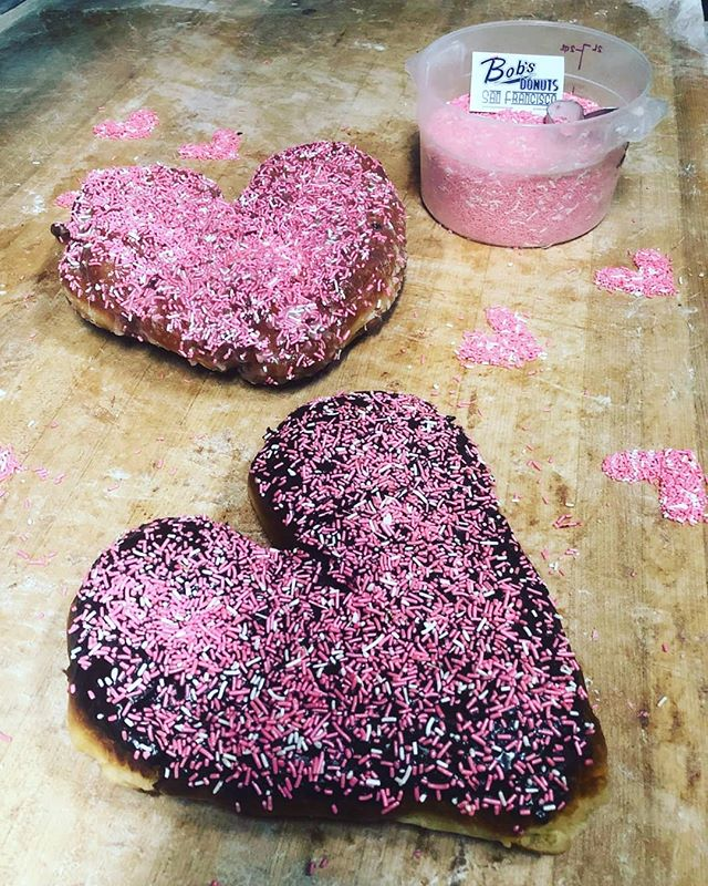 Valentine's day big donuts. To order email: bobsdonutssf@gmail.com