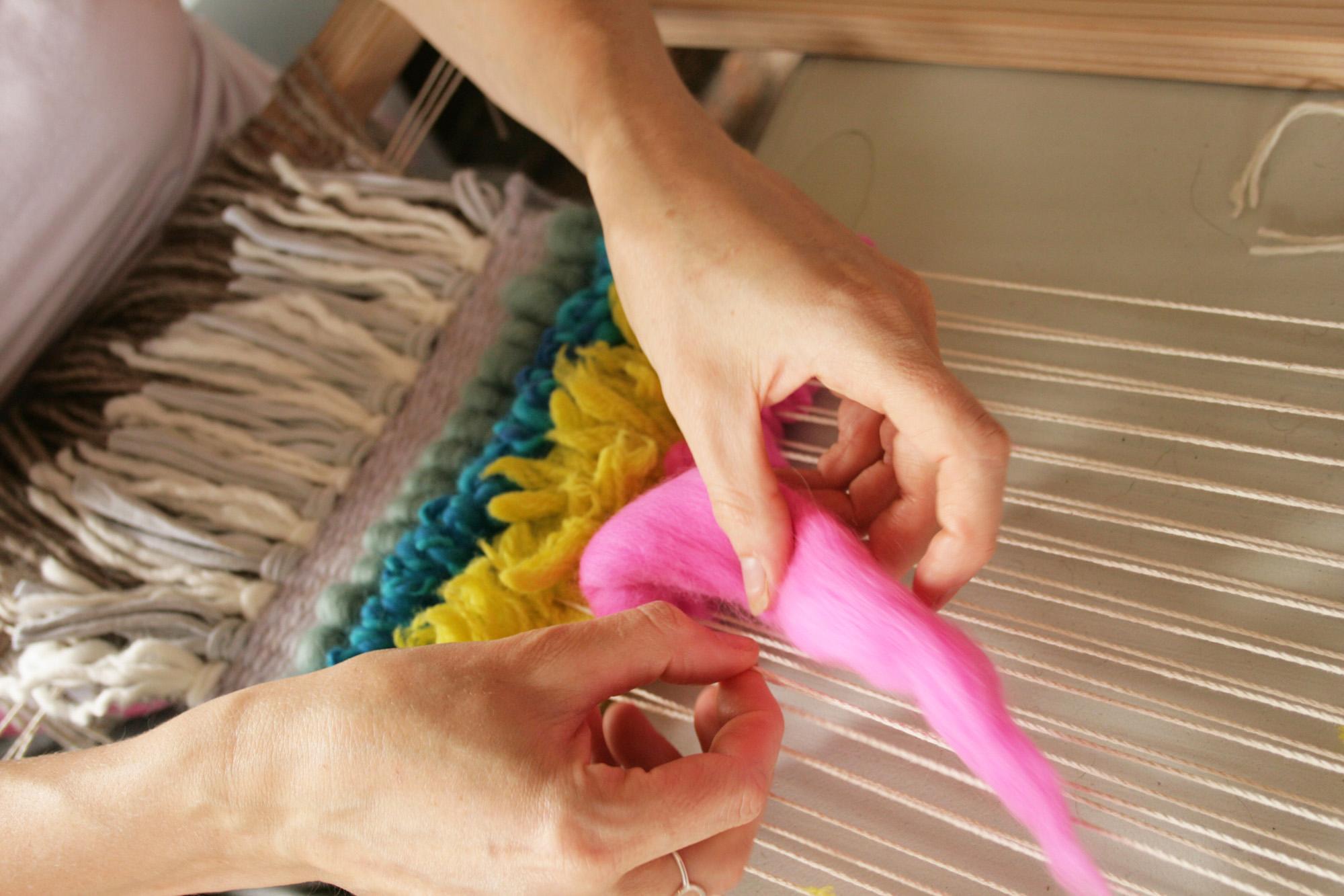 Tapestry weaving workshop Nicola Gates