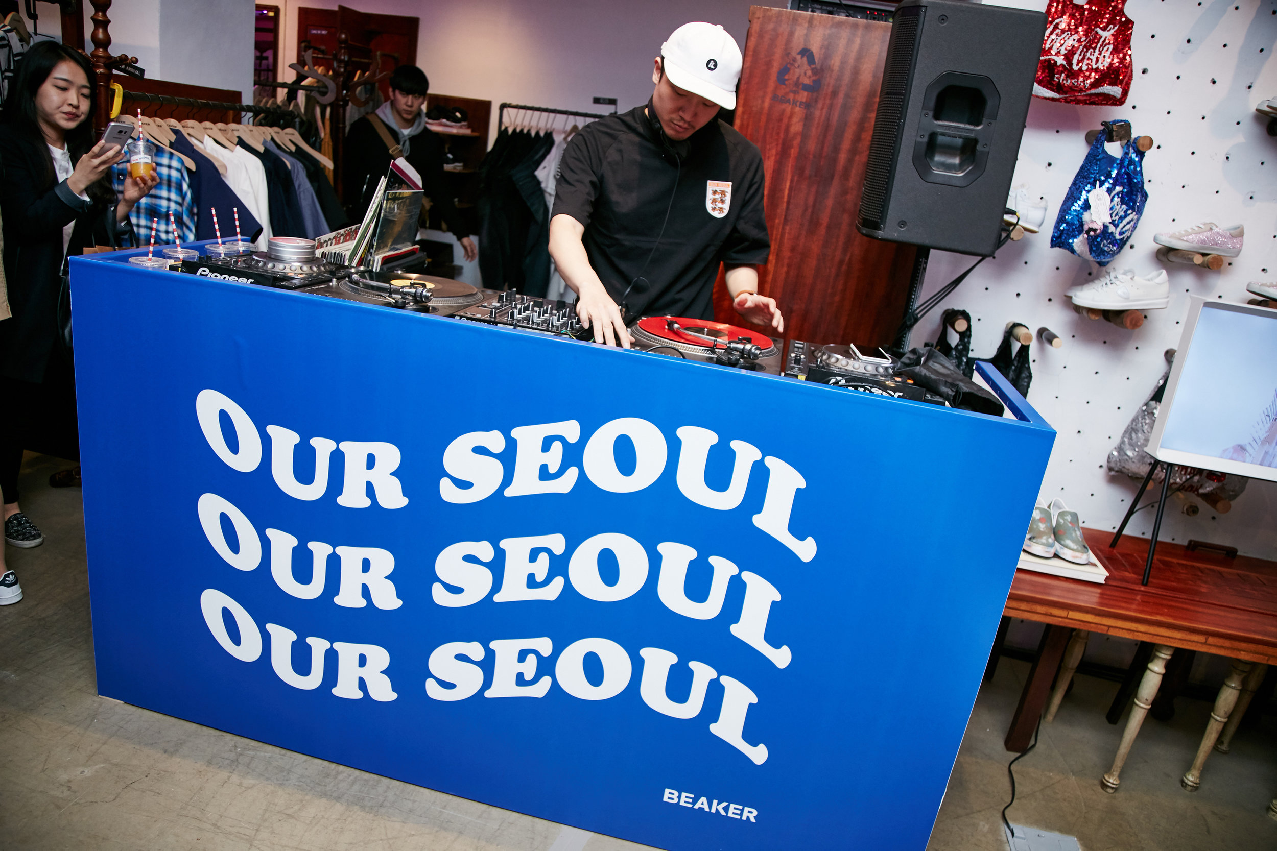 DJ Soulscape livening up the launch!