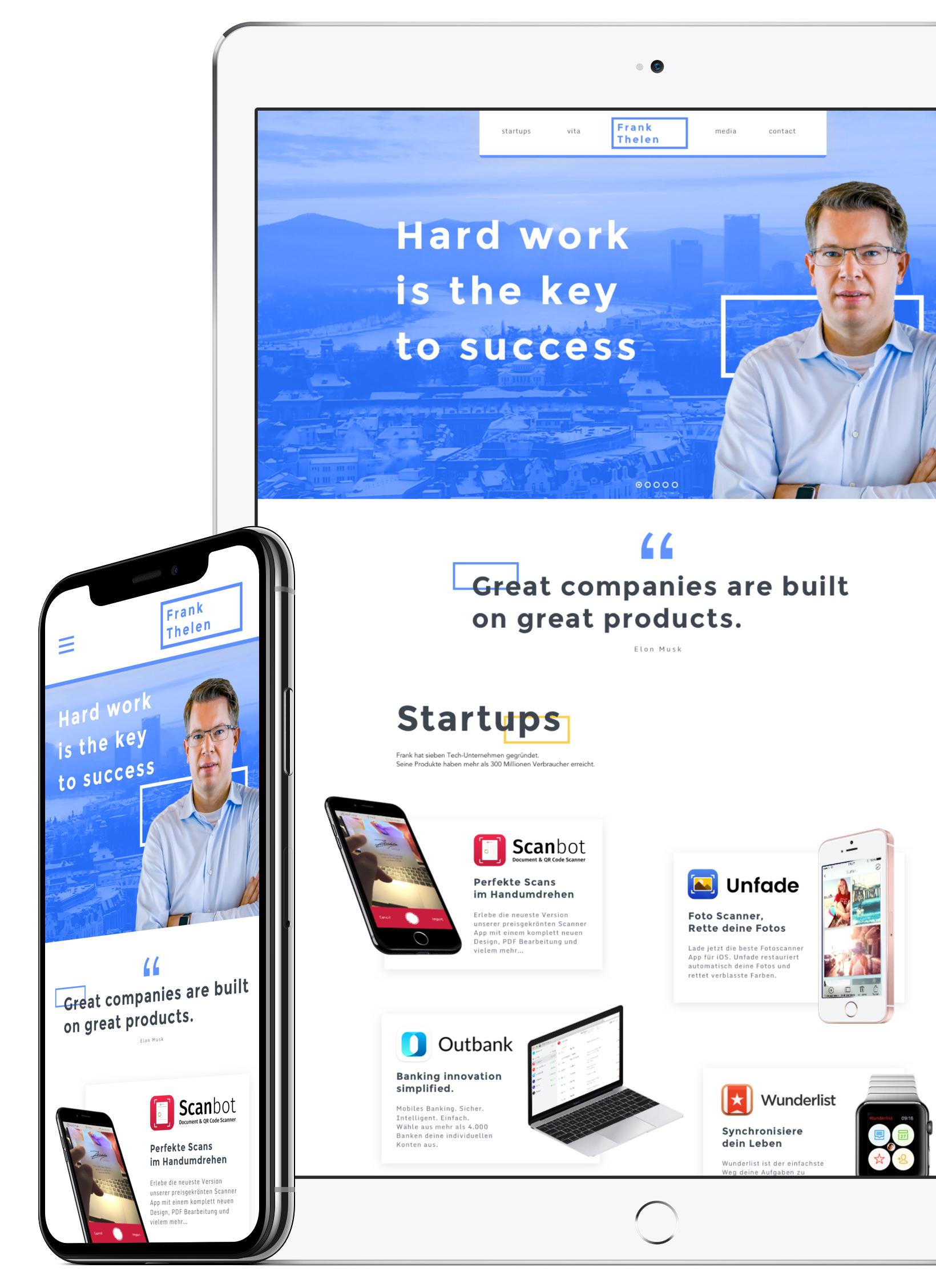 Frank Thelen - WebdesignPersonal BrandingLogo Design