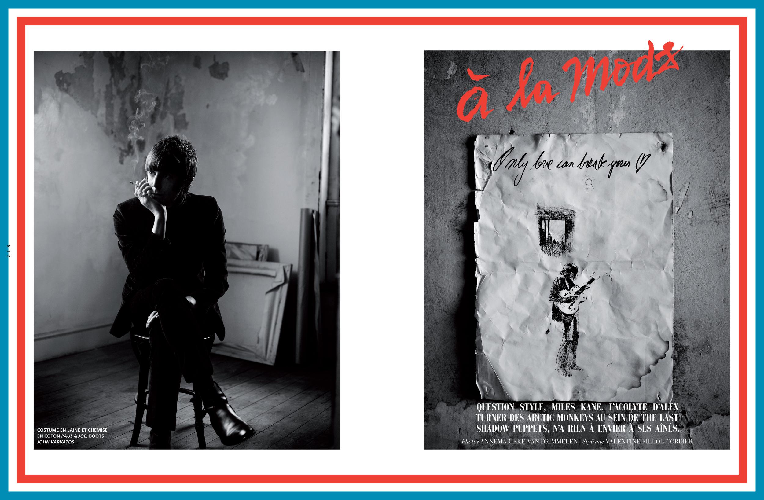 Miles Kane for L'Officiel Hommes - ph. Annemarieke Van Drimmelen