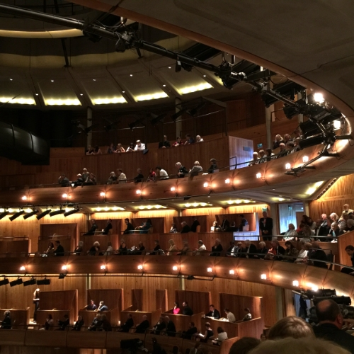 The amazing auditorium at Glyndebourne. Brilliant acoustics and great seats.