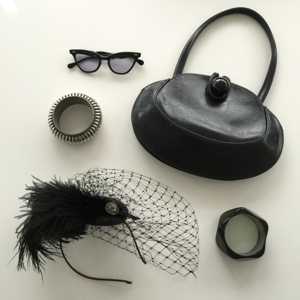 Accessories for a black and white outfit. Love a bangle or two!