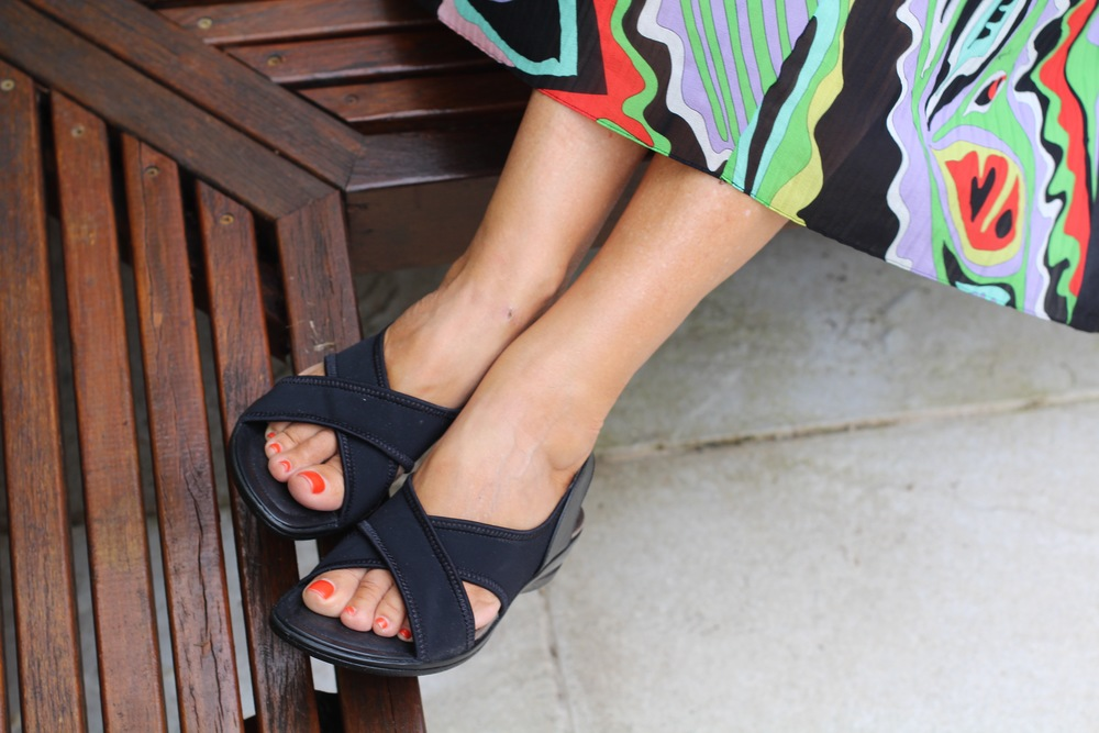 Lovely comfy but quite stylish  Ecco  sandals. I can walk for miles in these! Photography by  A Beautiful Weirdo.