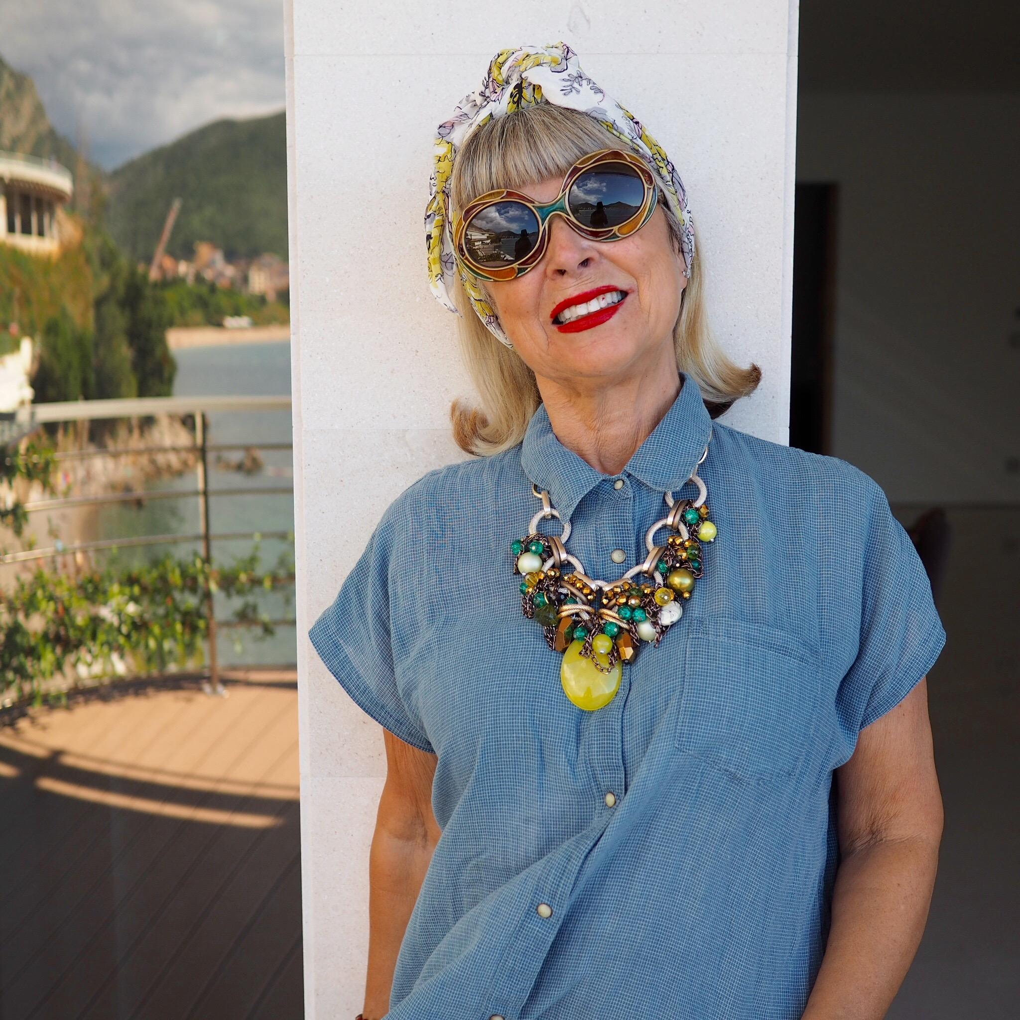 Wearing a summer top in October. Montenegro 2016.
