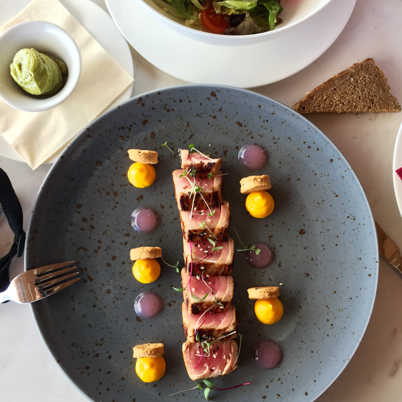 Delicious tuna at Dukley Beach Lounge, Budva, Montenegro.