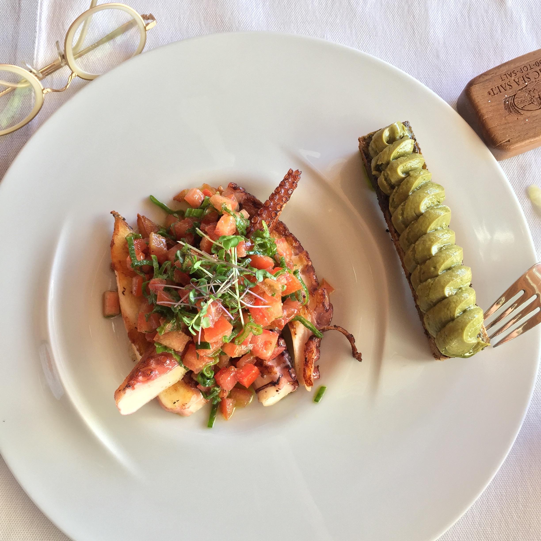 Octopus, squid, at Dukley Beach Lounge, Budva, Montenegro