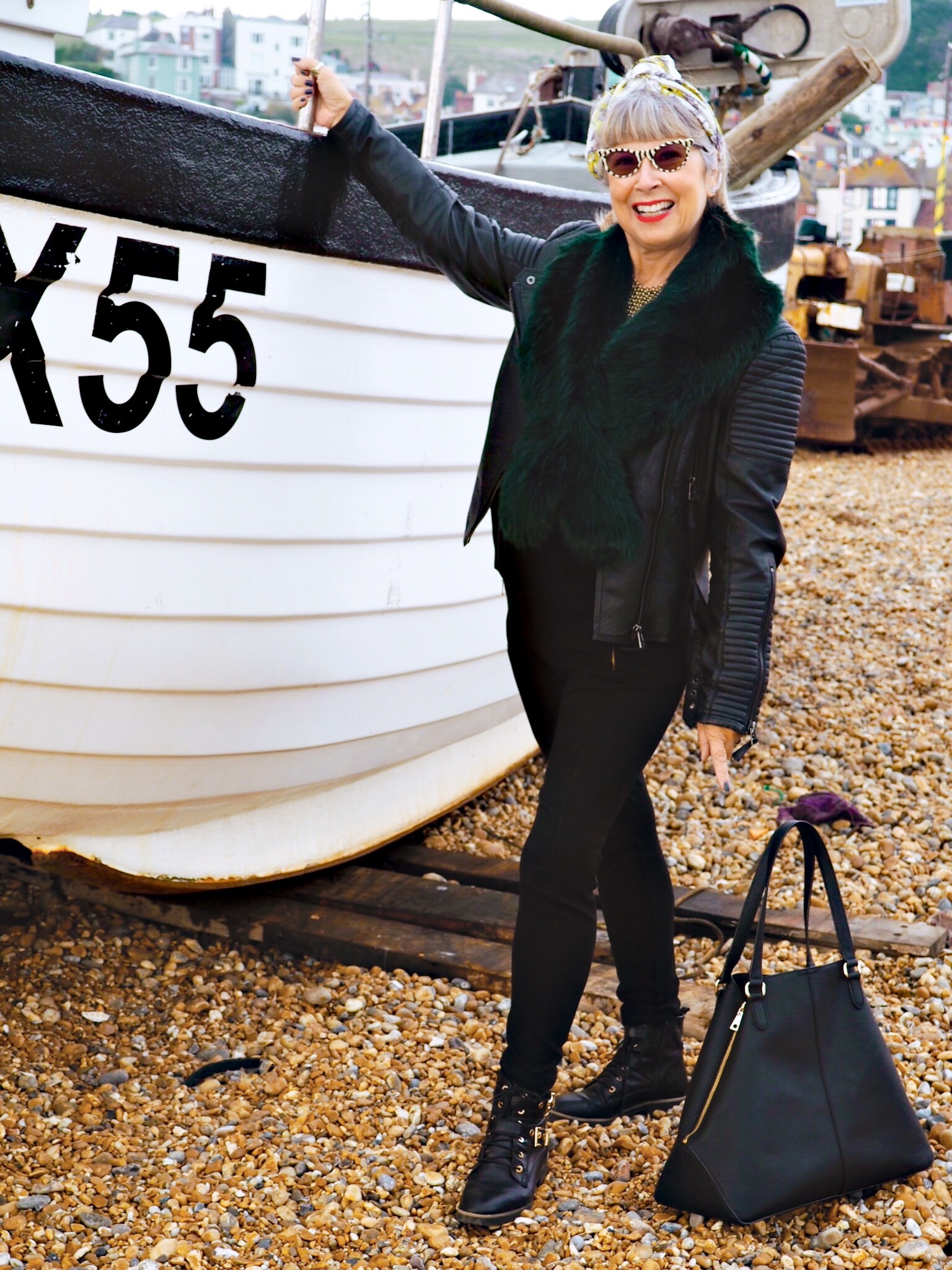 Wearing a leather jacket at the end of October in Hastings.