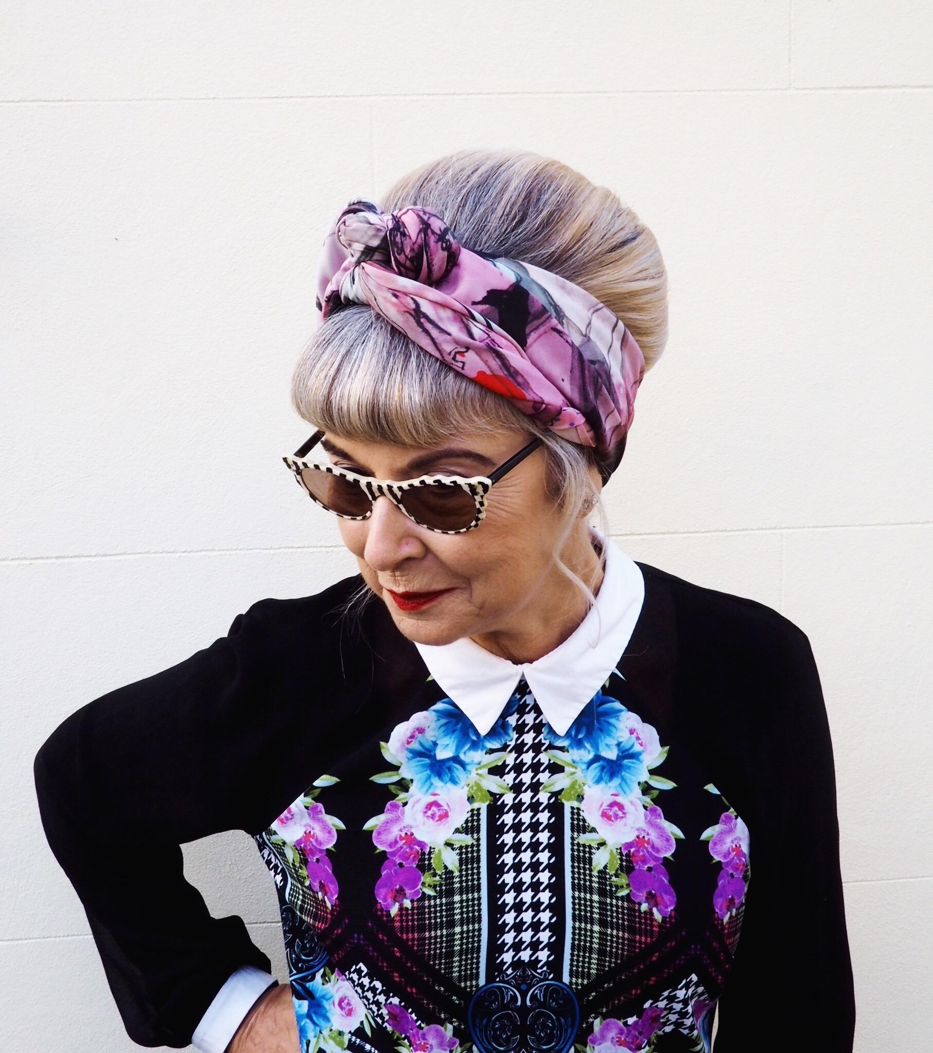 Gorgeous silk headscarf