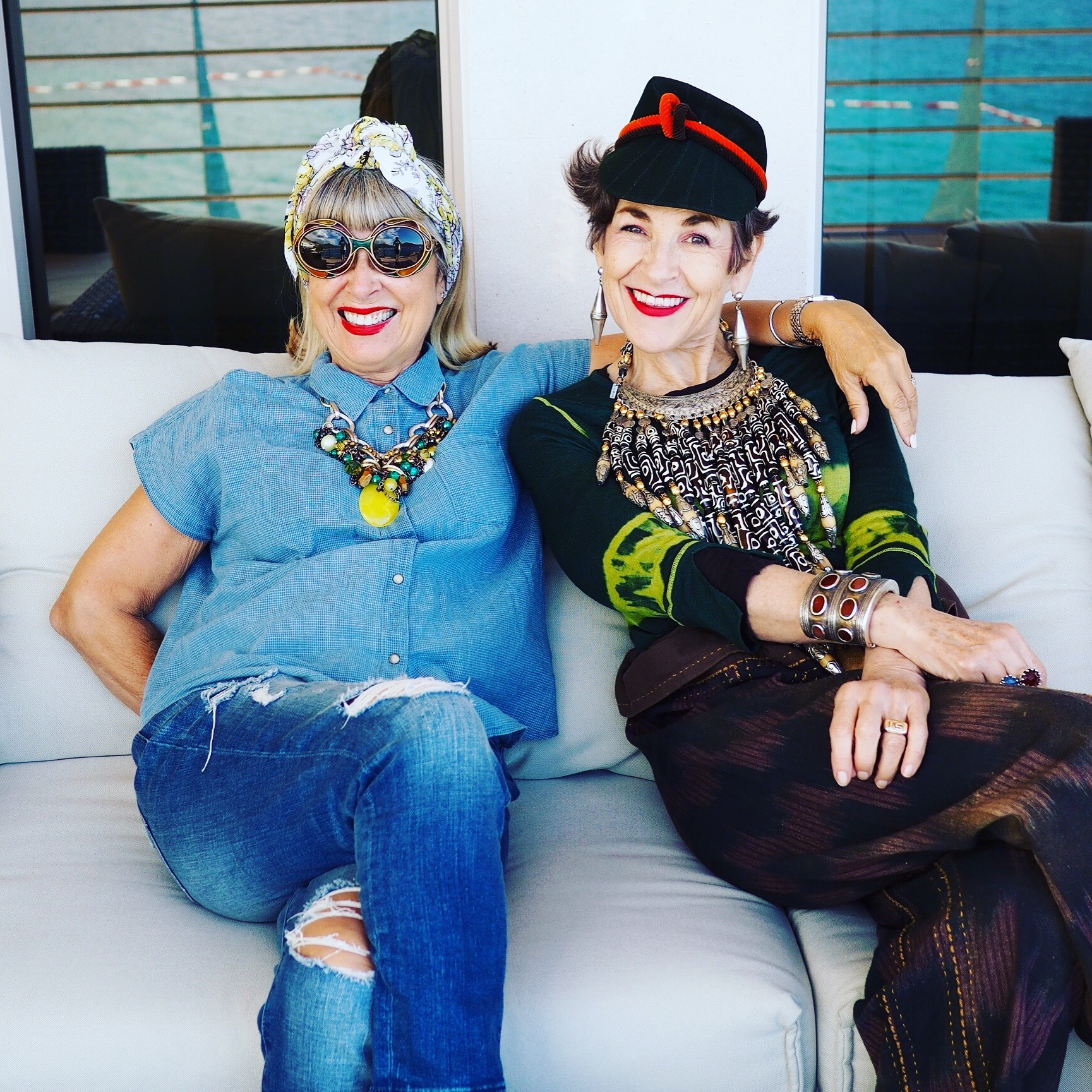 Spending time with the very stylish Tziporah Salamon in Montenegro
