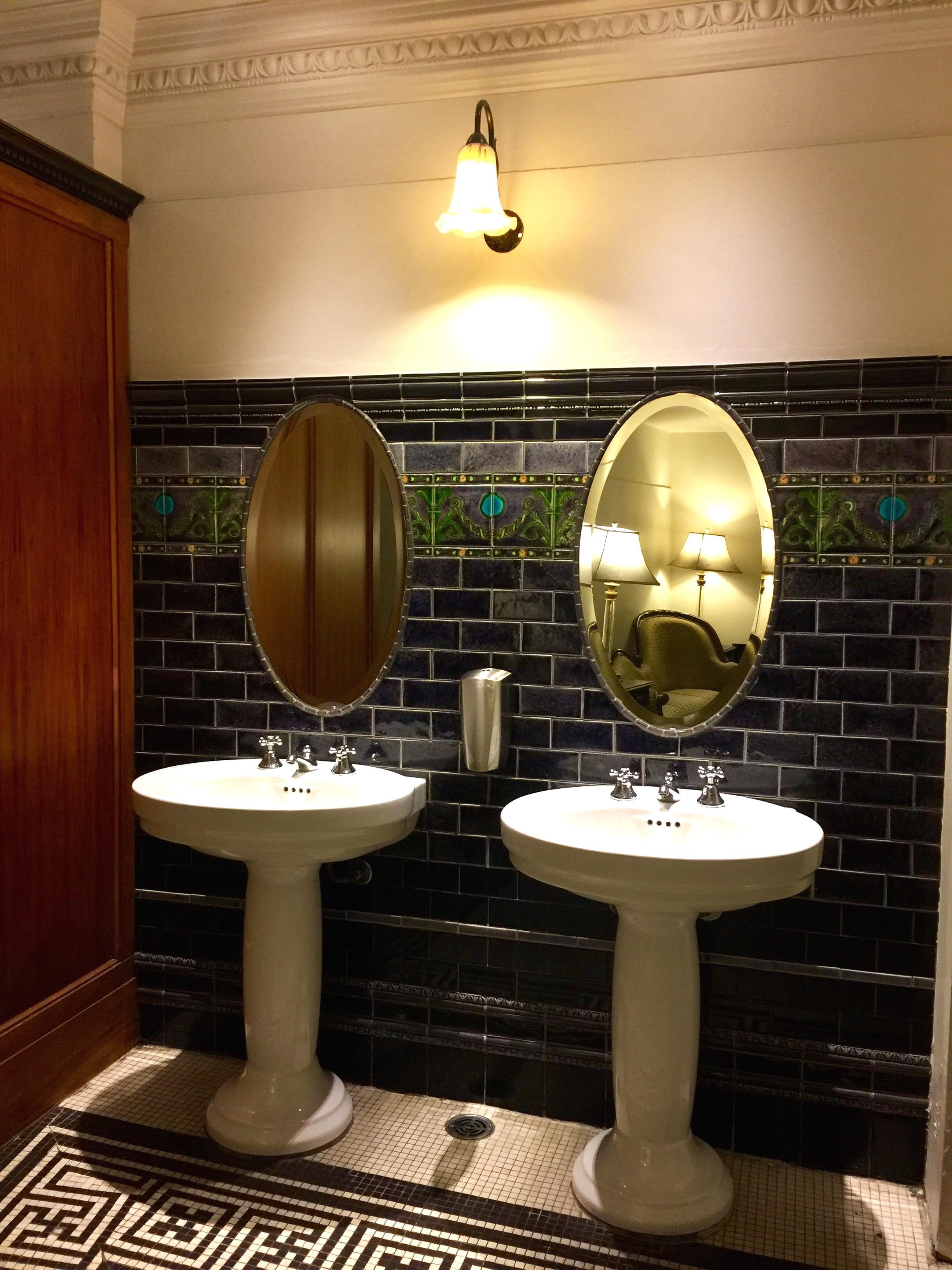 Art Deco toilets in Wellington's Embassy Cinema
