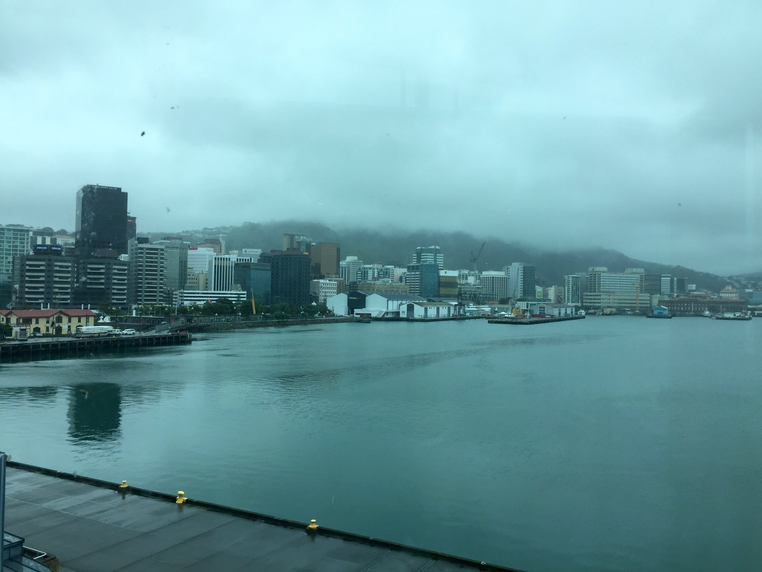 Wellington. The weather's often inclement! But it's still a beautiful city.