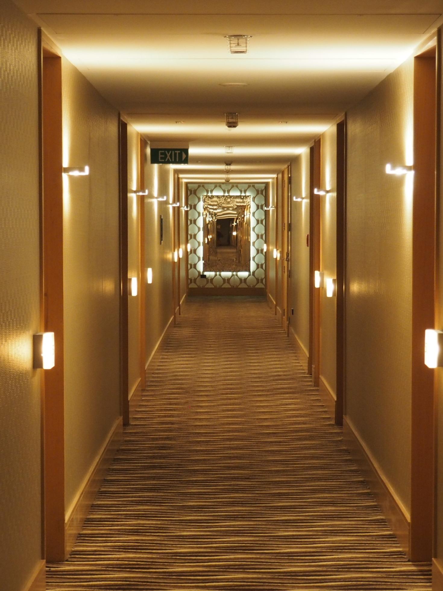 Corridor. At QT Museum Wellington