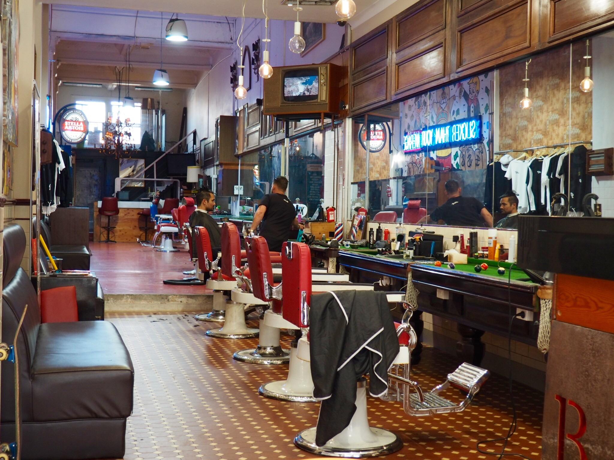 Hipster barber. Melbourne.