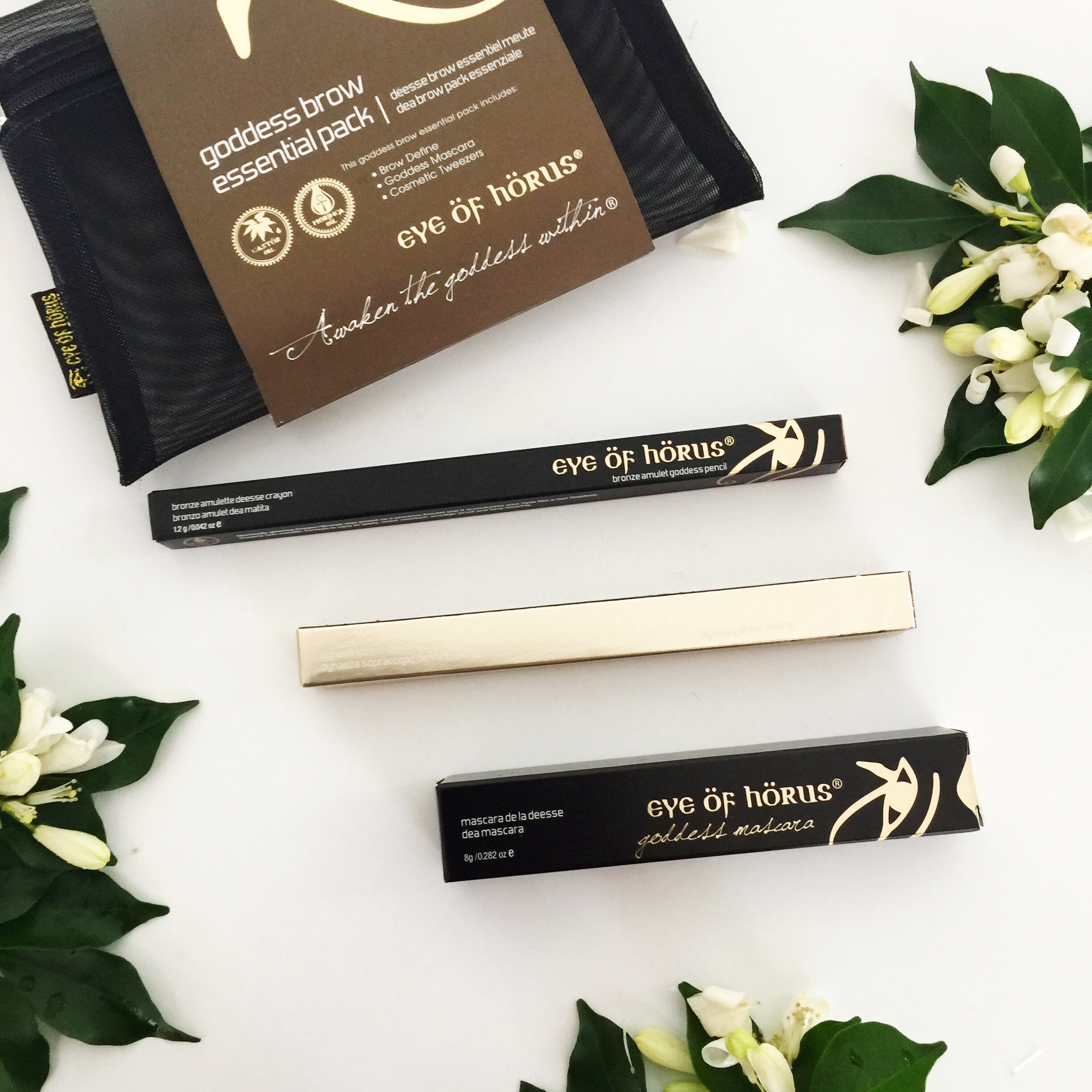 Eye of Horus. The Goddess Brow Essential Pack. Natural eye make up.