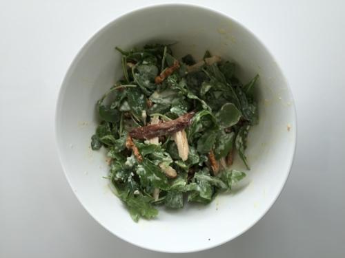 Caesar salad with twiglets