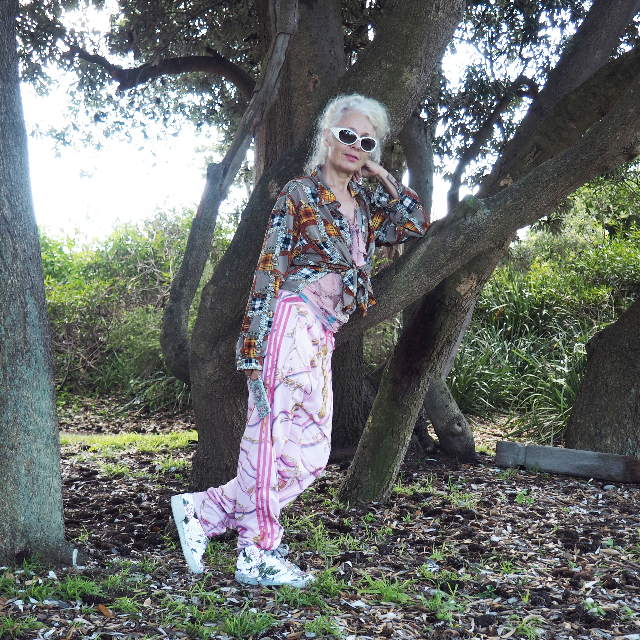My stylish friend Sarah Jane Adams. Known on Instagram as  @saramaijewels.  In Coogee, Australia.