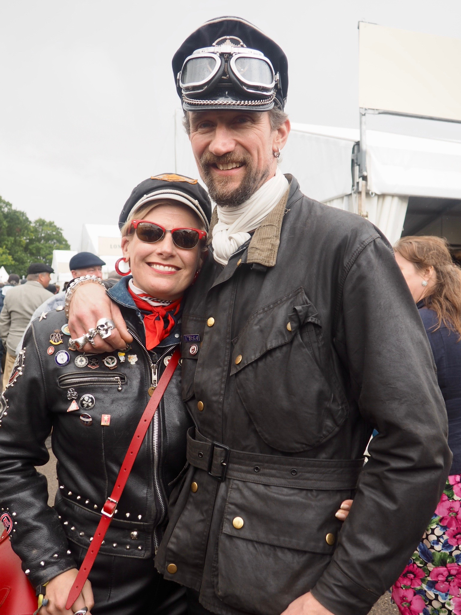 Bikers at Goodwood Revival